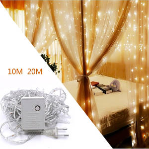 Light-String Flower-Link Day-Ambient-Light Christmas-Decoration Eu-Plug LED Waterproof