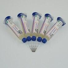 Flux Paste 5PCS KINGBO RMA-218 10cc + Needle holder BGA flux paste for BGA solder station Soldering Tin Cream