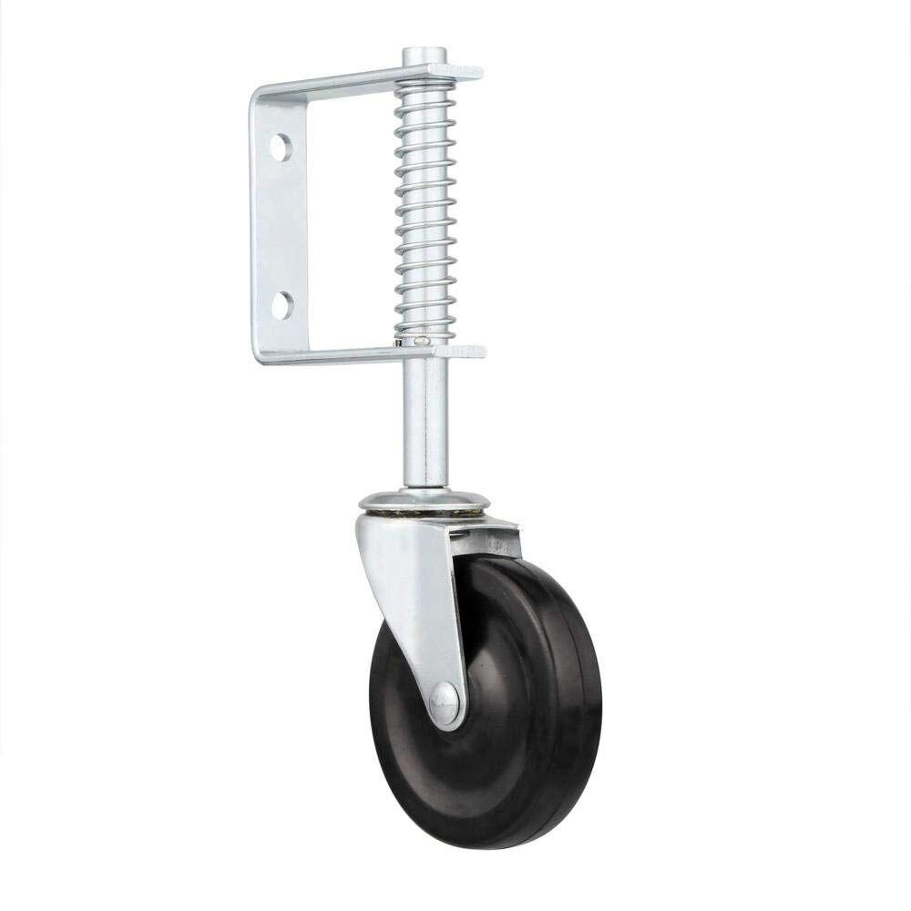4 Inch Spring Loaded Gate Caster, Spring Gate Door Wheel 125-lb Load Capacity Home Gate Door Roller Slider