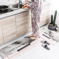 Nordic Simple Style Kitchen Mat PVC Door Mat Decorate Home Carpet Soft Delicate Carpets For Living Room Bedroom Rugs Floor Rug