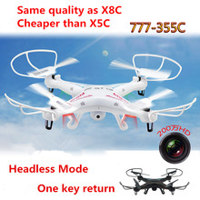 High quality Sky Phantom 2.4G 4CH 6 axis RC quadcopter 777-355C with Camera RC Drone with USB 777-355C VS  than X5SC X8C M68 X5C