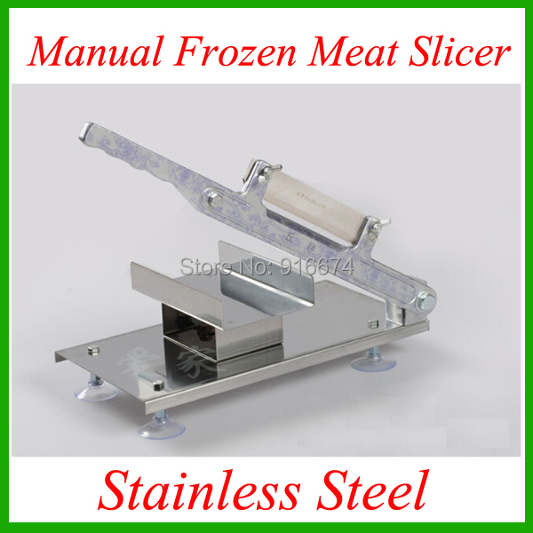 Fast Free shipping stainless steel manual Frozen meat slicer handle vegetable slicing Mutton rolls cutter slicer cutting machine fast food leisure fast food equipment stainless steel gas fryer 3l spanish churro maker machine