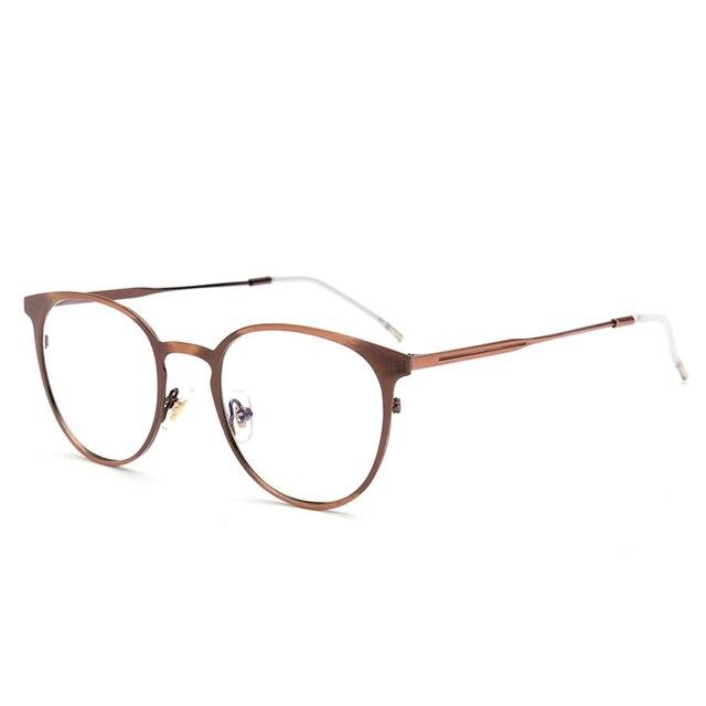 eb481e774b927 Female Grade Glass Frame Of Spectacles Frame With Clear Lens Round Full-Rim  Vintage Eyeglasses