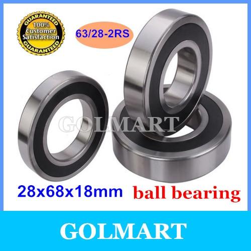 20pcs lot sealed 63 28RS steel ball bearing 28x68x18 mm 63 28 2RS bearing 28mm diameter