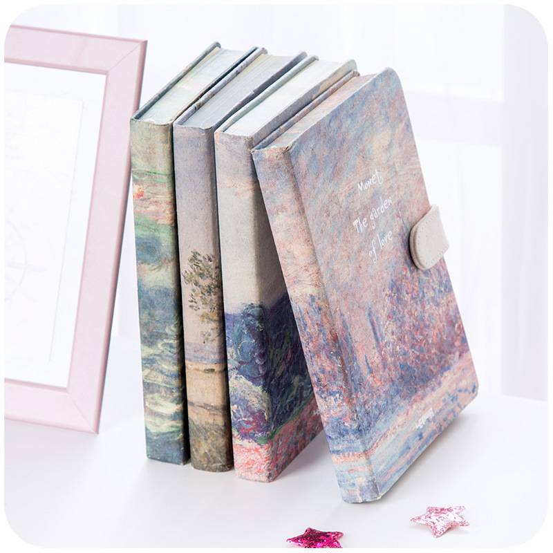 Image 4 - JIANWU painting Colorful note book Hard shell notebook schedule planner kawaii scrapbook Hardcover diary office School supplies-in Notebooks from Office & School Supplies