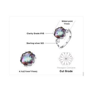 Image 5 - JewelryPalace 3ct oryginalna tęcza tajemniczy pierścionek z topazem 925 srebro pierścionki kobiety pierścionek zaręczynowy srebro 925 kamieni szlachetnych biżuteria