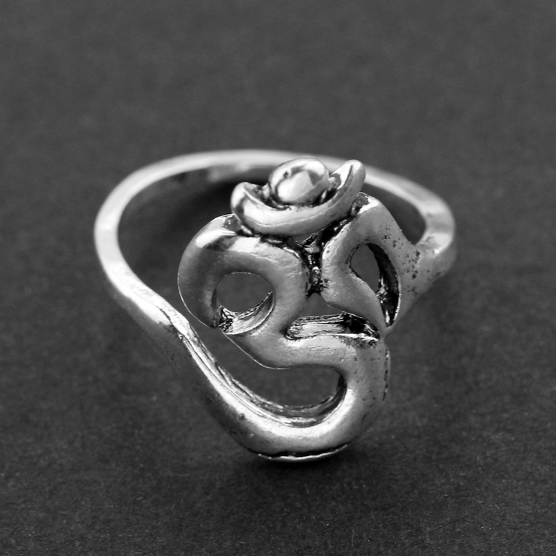 New Hindoo Jewelry OHM Hindu Buddhist AUM OM Ring Hinduism Yoga India Outdoor Sport Women/Men Ring Religious Symbol Jewelry