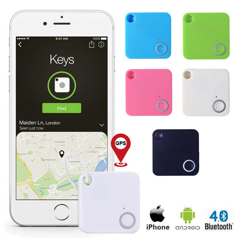 Ourine 6Pcs Buscador de Llave Inteligente Bluetooth inal/ámbrico Inteligente 4.0 Rastreador Anti-perdida Buscador de Llave de Alarma Ubicaci/ón GPS