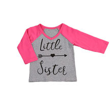 Long Sleeve Children Girls T-shirt Big Sister Little Sister Printing Toddler Baby Kids Girls T-shirt Tops Outfits(China)