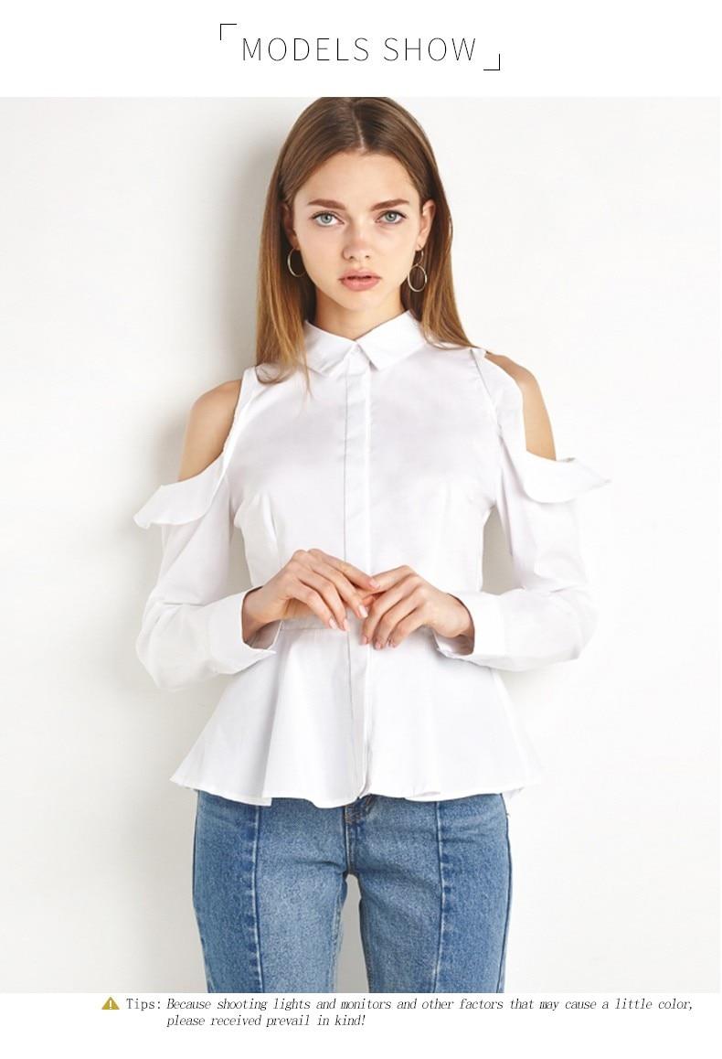 Baltas plonas topas Moteriški Marškiniai