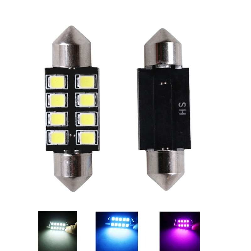 2x 31mm 36mm 39mm 41mm C5W C10W CANBUS NO Error Auto Festoon Light SMD 2835 LEDs Car Interior Dome Lamp Read Bulb White DC 12V festoon 31mm 36mm 39mm 41mm led bulb c5w c10w 3014 smd canbus error free auto interior doom lamp car styling light white blue