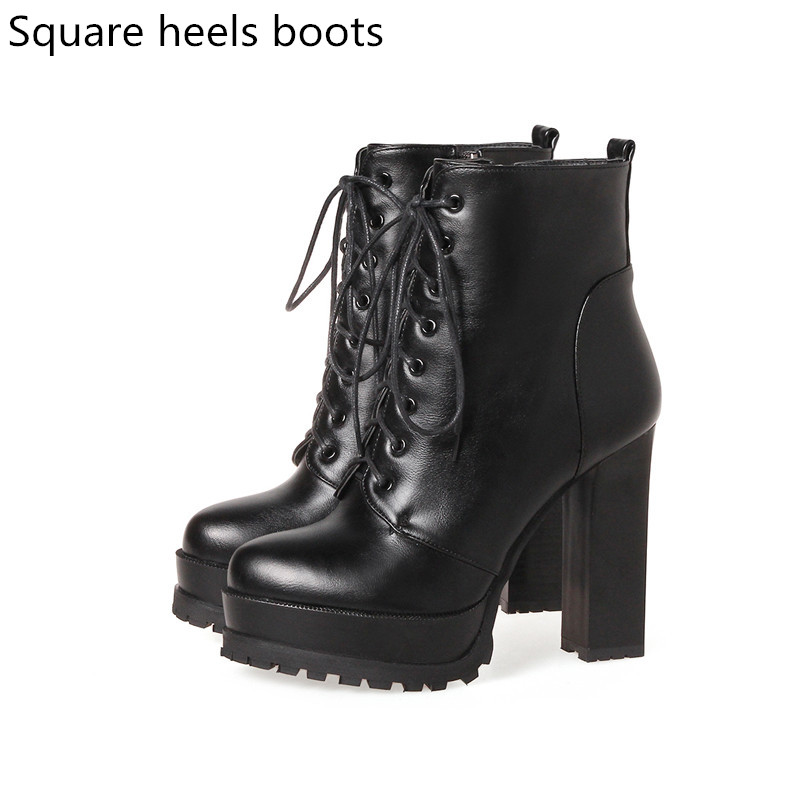 f3eff8239d7 US $36.92 48% OFF|MORAZORA Fashion shoes woman platform boots spring autumn  ankle boots for women top quality high heels shoes big size 34 43-in Ankle  ...