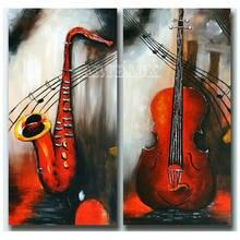 Музыкальный рожок скрипка икона алмазная живопись два предмета