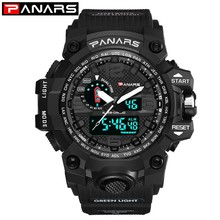 PANARS Analog Digital Watch Men Dual Display Quartz Sports Watches Man Waterproof Swimming Led Watch Electronic relogio militar