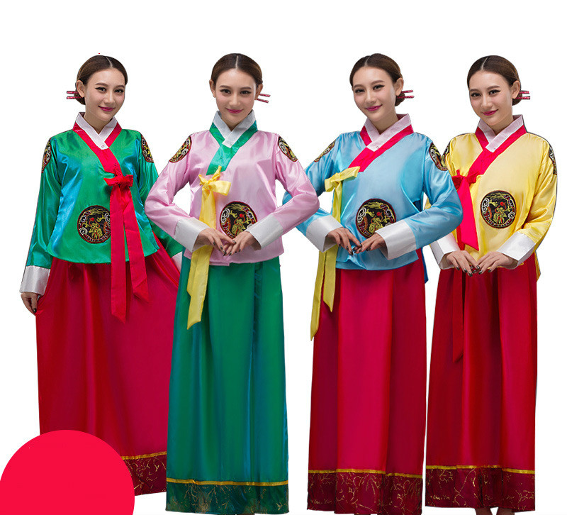 Women Asia Clothes Korean Traditional Court Ladies Ethnic Dance Show Costume Korean National Costume Korean Hanbok Cosplay Dress