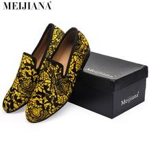 С красной подошвой туфли для мужчин superstar роскошные мужчины платье обувь мужская квартиры человеческой расы леброн обувь Желтый узор кожи