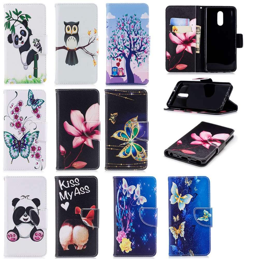 Honey Fashion Flowers Tree Panda Wallet Flip Pu Case For Xiaomi Pocophone F1 Redmi 4x 5 Plus 6pro 6a Note 4 5a 5 6 Pro Phone Cover Agreeable To Taste Wallet Cases