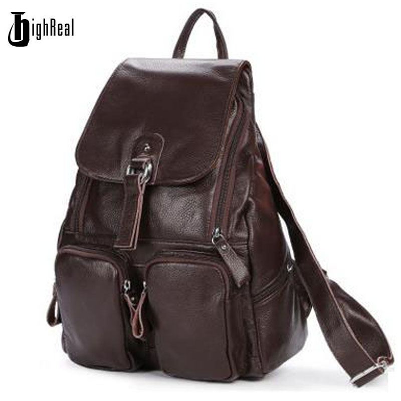 HIGHREAL Women Genuine Leather Backpacks Brand Ladies Fashion Backpacks For Teenagers Girls School Bags Real Leather Travel Bags syma x5 x5c x5c 1 explorers new version without camera transmitter bnf