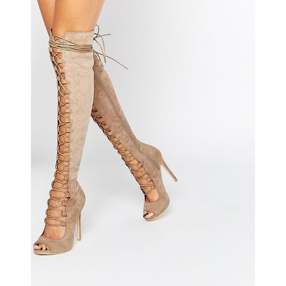 sexy open toe lace-up thigh high boots cutouts gladiator sandal boots 2017 high quality suede boots high heel over the knee boot hot boots women sexy black thigh high boots peep toe soft leather back zip high heels over the knee boots gladiator sandal boots