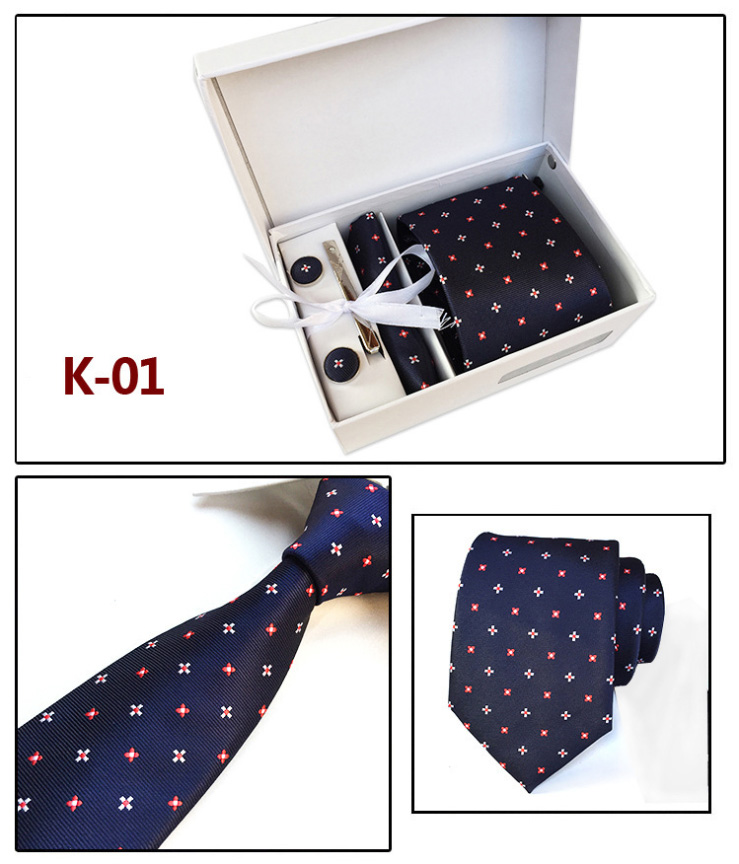 Men Bow Neck Tie Set With Handkerchief Geometric High Quality Formal Accessories