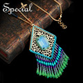Special New Fashion Long Necklaces & Pendants Natural Opal Ceramic Maxi Necklace Trendy Jewelry Gifts for Women XL160326