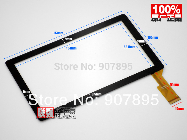 7 capacitive panel touch screen digitizer glass for All Winner A13 Q8 Q88 Tablet PC MID BSR028-V3 KDX CZY6075A GT70Q8801 10 1inch capacitive touch screen digitizer gass for ginzzu gt x831 tablet pc mid repair gt x831 gt x831 touch screen