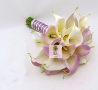 Handmade Hand Holding Flower Bridal Bouquets PU Calla Lily Artificial Flowers Wedding Bride Bridesmaid Bouquet Wedding Supplies