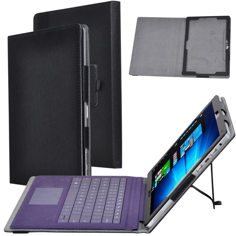 Slim Flip Stand Litchi PU Leather 2in1 Tablet and Keyboard Protector Funda Cover For Chuwi Surbook 12.3 inch Case + Film + Pen ultra thin slim stand litchi grain pu leather skin case with keyboard station cover for lenovo ideapad miix 320 10 1 tablet pc