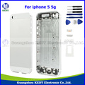Original Metal Back Housing Assembly for iPhone 5 5g Back Housing Battery Door Cover with Side Buttons Card Tray IMEI + Tools