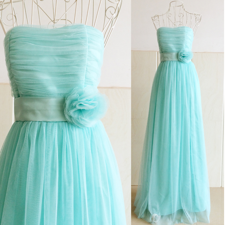 Sweet Memory Green blue white pink purple Bridesmaid Dresses for ...