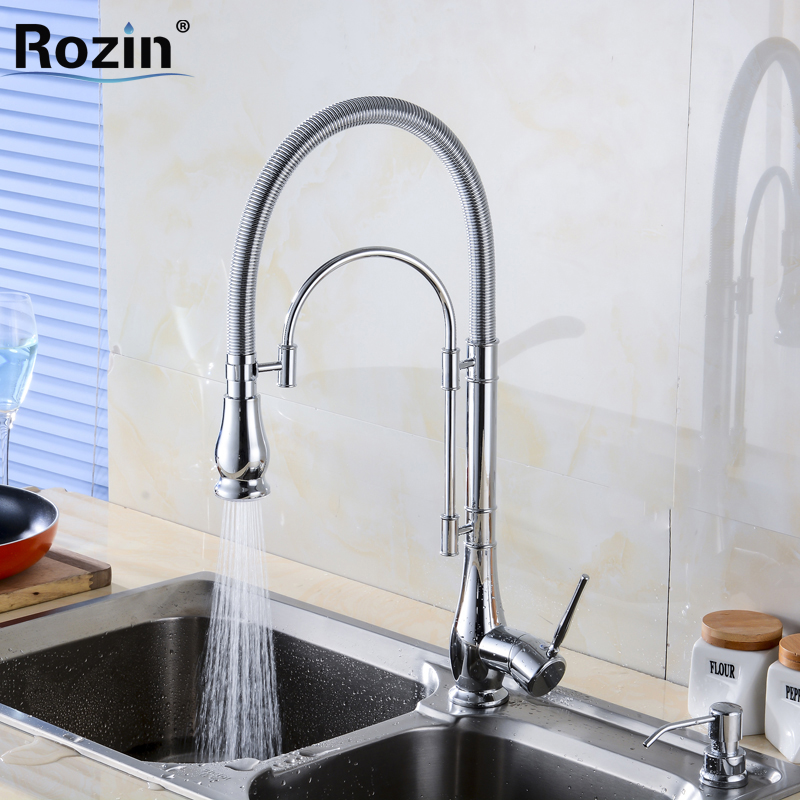 2016 NEW Chrome Brass Kitchen Sink Faucet Deck Mount One Hole Kitchen Mixer Water Taps Single Lever swanstone dual mount composite 33x22x10 1 hole single bowl kitchen sink in tahiti ivory tahiti ivory