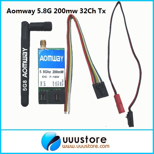 Aomway 5.8Ghz 200mW 32CH Audio/Video AV Transmitter (TX) Module for FPV 5 8g 1w wireless audio video transmission 32ch av for fpv rc airplanes transmitter module tx5833 32ch receiver module 201r