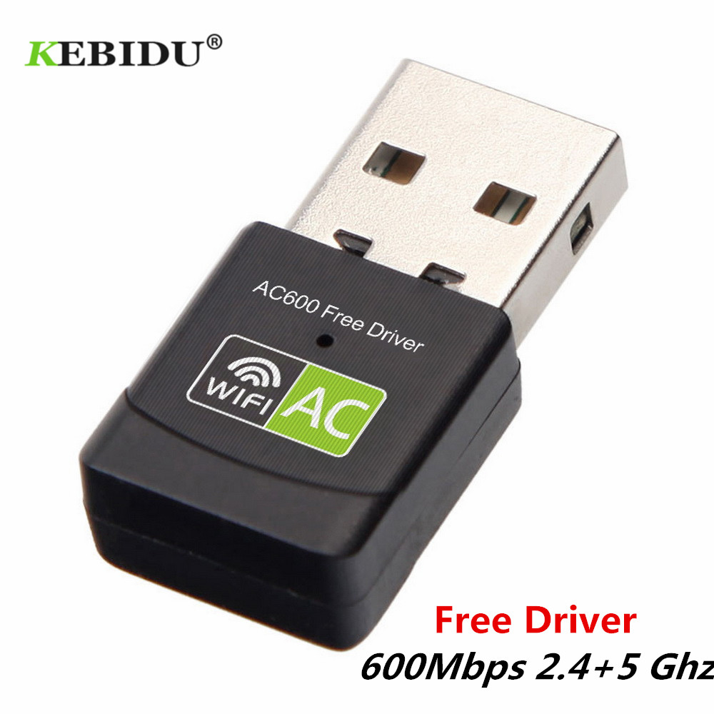 Kebidu Free Driver Wireless USB Wifi Adapter 600Mbps Lan USB Ethernet 2.4G 5G Dual Band Wi-fi Network Card Wifi Dongle 802.11n/g