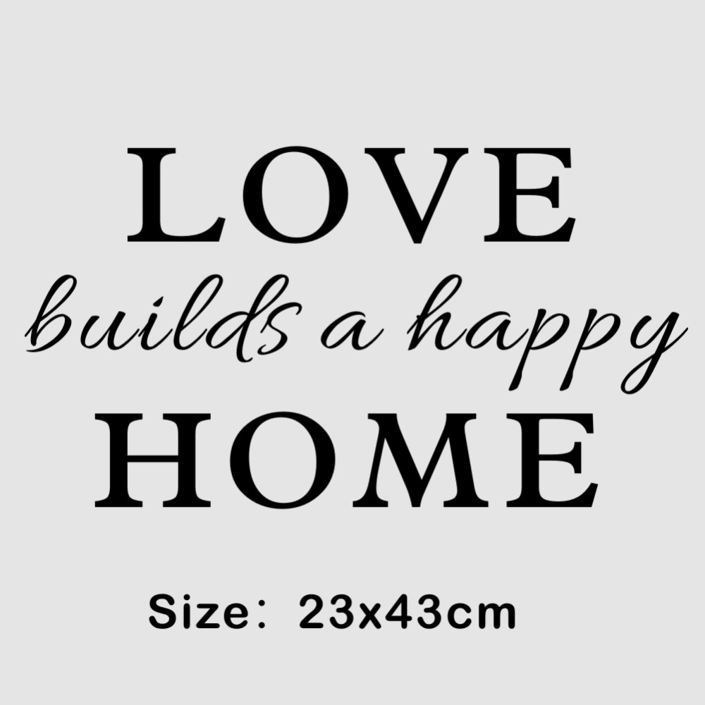 Image of: Wall Family Wall Quotes Sticker Love Builds Happy Home Art Vinyl Decal For Room Decorin Wall Stickers From Home Garden On Aliexpresscom Alibaba Group Aliexpresscom Family Wall Quotes Sticker Love Builds Happy Home Art Vinyl Decal