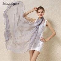 DANKEYISI женский шарф из 100% натурального шелка, шаль, женские шарфы из чистого шелка, однотонные шали большого размера, длинные пляжные накидки