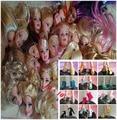 Лучшие продажи оригинальные головки и оригинальные туфли для 1/6 кукол DIY Favshionable 10 главы 10 обувь = 20 шт. главы сандалии для девочки куклы