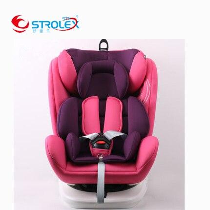 Поворот на 360 градусов для автомобилей повышенной сиденье стул детский безопасности автокресло Isofix защелка Регулируемая Детские лежащего
