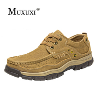 New Arrival Comfortable Outdoor Casual Shoes Men Genuine Leather Fashion Men Shoes Handmade Oxfords Plus Size