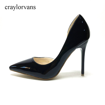Bridal Shoes Sexy 2017 NEW Woman High Heels Black Shoes PUSexy Pumps