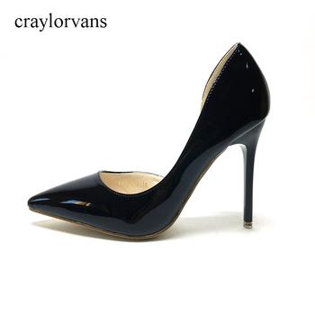 V JIA CUGEN damskie buty na wysokim obcasie buty damskie buty wysokie obcasy buty dla panny młodej Sexy 2017 nowe damskie szpilki czarne buty PUSexy Pumps tanie i dobre opinie WOMEN Pompy Super Wysokiej (8cm-up) RUBBER Wsuwane D orsay i dwuczęściowe Party craylorvans Z niewielkim szpicem ELEGANT