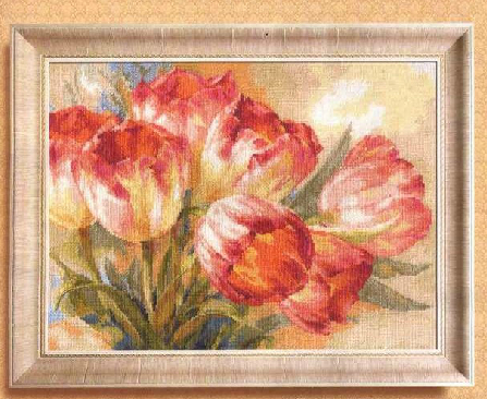 FREE Delivery HIGH Quality Counted Cross Stitch Kit Tulpany Tulips Tulip Alisa