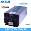 MKP3000 241B Black Colour 24 To 120v Converter Inverter 3000w 24v 120v Solar Power Inverter Pure