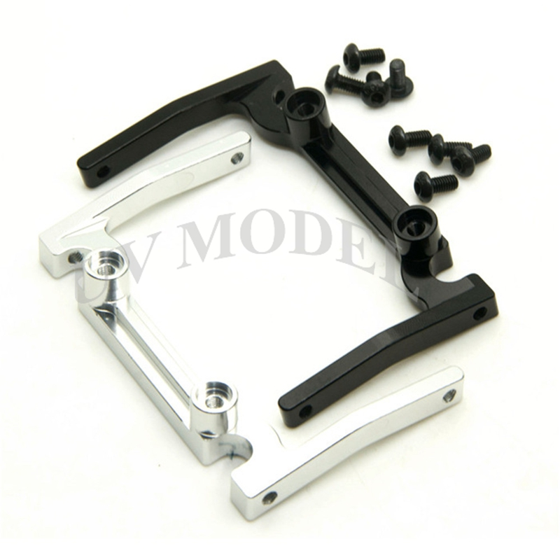 Black Silver Aluminum Front Bumper Mount For Axial SCX10 Electronics Box CC01 F350 D90 RC4WD Electronic Boxs aluminum front knuckle arm 2pcs for axial ax10 scx10 silver