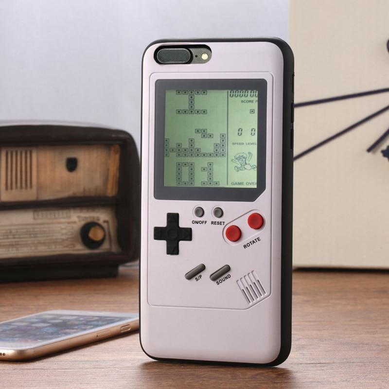 Ninetendo Gameboy Tetris Cassa Del Telefono Per il iphone X 7 8 Più Il Console di Gioco Retrò Della Copertura Per il iphone 6 6 s più Regalo Caso Montato