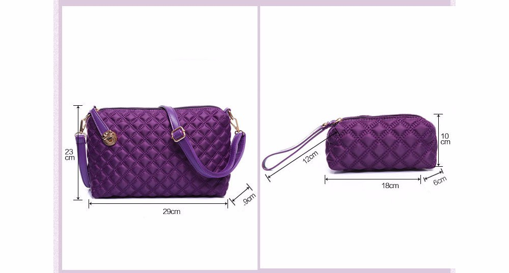 6 PcsSet Women Luxury Oxford Handbag Quilted ShoulderBag Elegant Ladies Messenger Bags Fashion Clutches Wallet New Arrival TTOS (1)