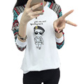 Casual Women Cute T Shirt Long Sleeve Autumn Harajuku Slim T Shirt Loose Plus Size S-3xl Korean Girls Sweet Print Kawaii Tops