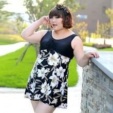 Women Super Large Size Swimwear Dress Plus Size Swimsuit  One Piece Bathing Suit Big Cup 2016 Hot Sale Moda Femininas Banho