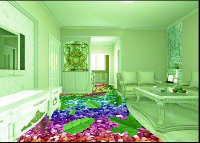 Floor Colorful Pebbles Wallpaper Custom Vinyl Flooring Self Adhesive Waterproof Pvc Murals Decorative
