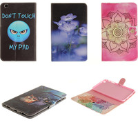TX Painted Owl Case Stand Flip Wallet PU Leather Cover For Samsung Galaxy Tab 3 8