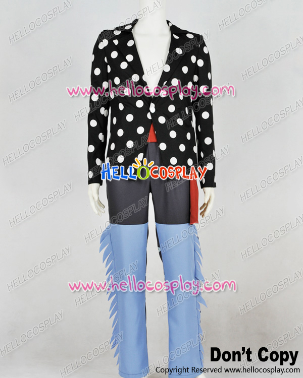 One Piece Cosplay Killer White Polka Dot Uniform Costume H008